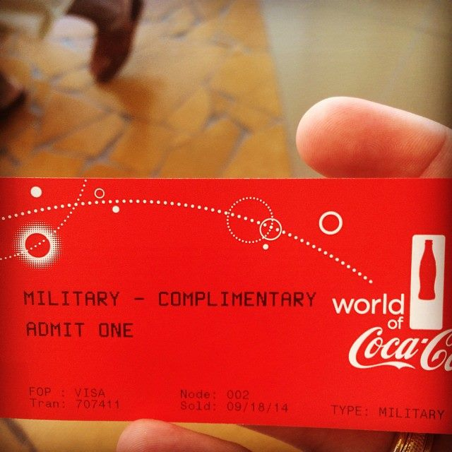 The World of Coca Cola & I LOVE Veterans!