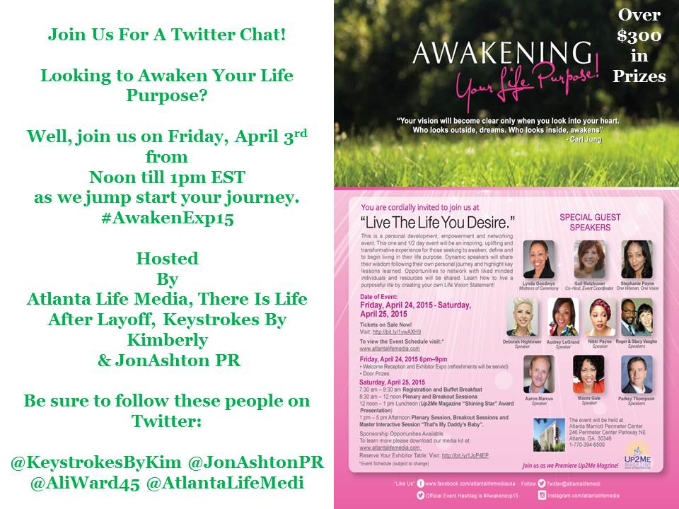 Please Join Us For A Twitter Chat ~ #AwakenExp15