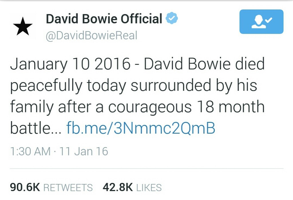 Photo Credit | @David Bowie Official Twitter