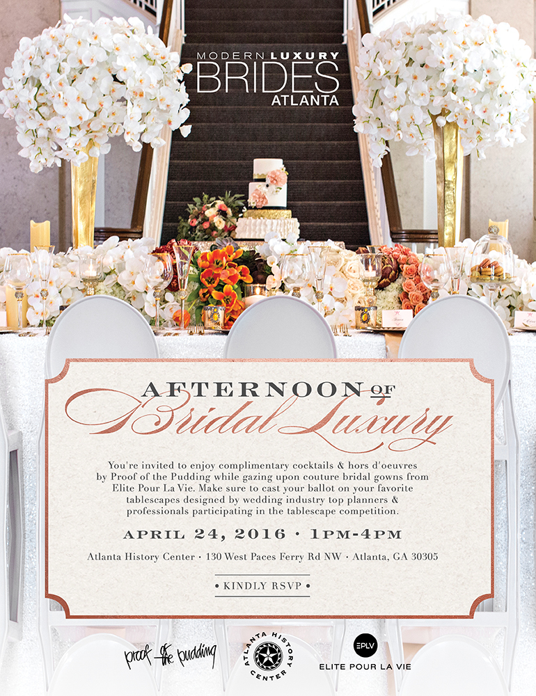 Welcome To An Afternoon Of Bridal Luxury