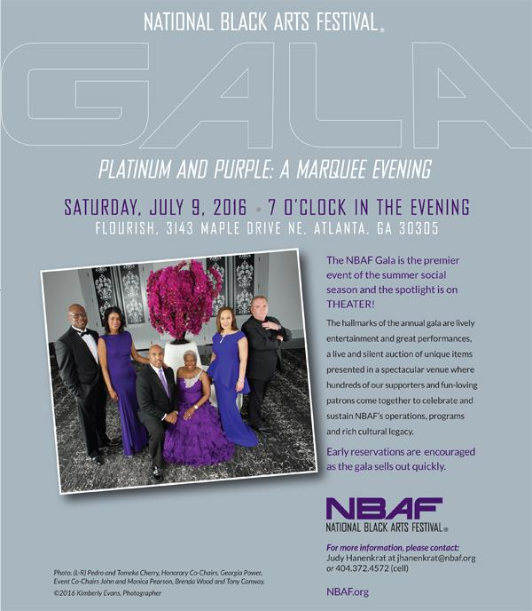 Time For The National Black Arts Festival Gala !