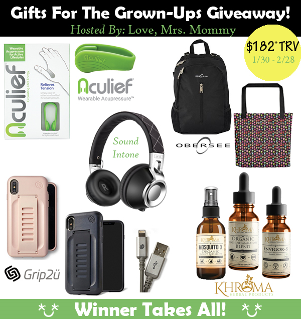 The Gifts For the Grown-Ups Giveaway With Over $182 in Prizes!